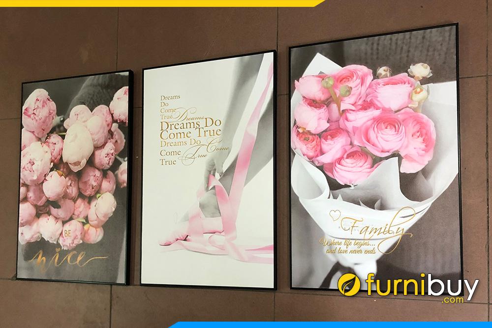 Tranh canvas hien dai hoa hong phap dep tinh yeu