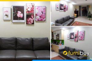 Bo tranh canvas hoa hong phap 5 tam