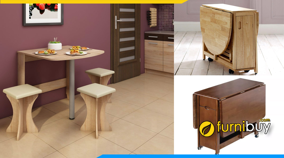 Furnibuy báo giá bàn ăn thông minh gỗ tự nhiên