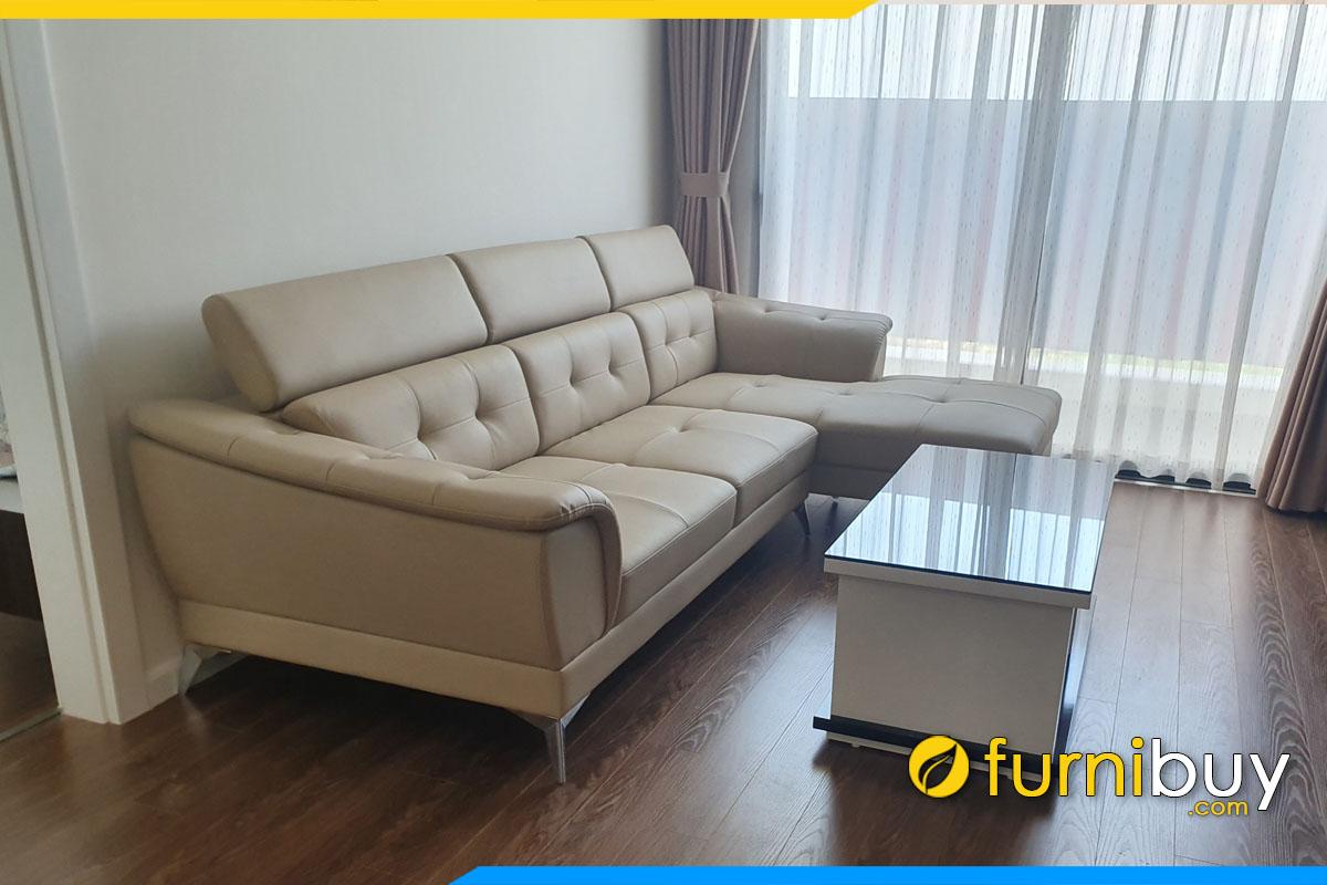 sofa phong khach goc chu l kich thuoc 2m6 boc da