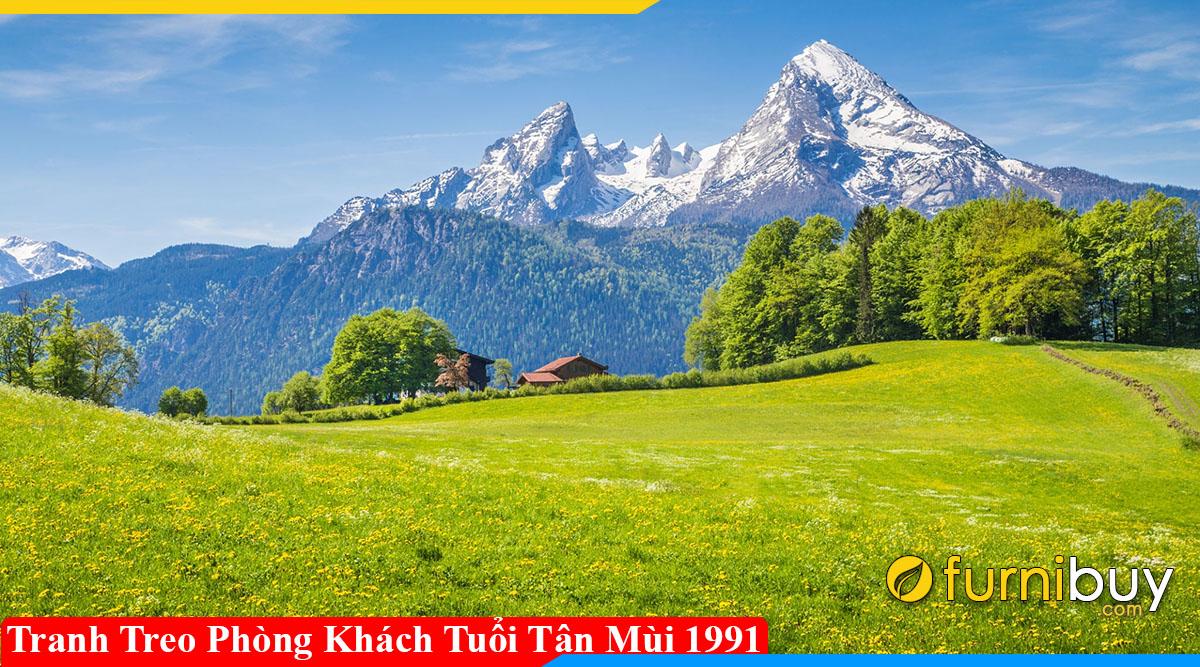 Tranh treo phong khach tuoi Tan Mui 1991 tang tai van may man