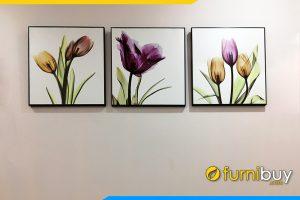 Tranh canvas hoa xray treo tuong hien dai tulip