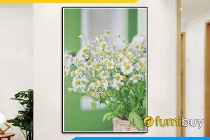 Tranh treo phong khach dep gio cuc hoa mi