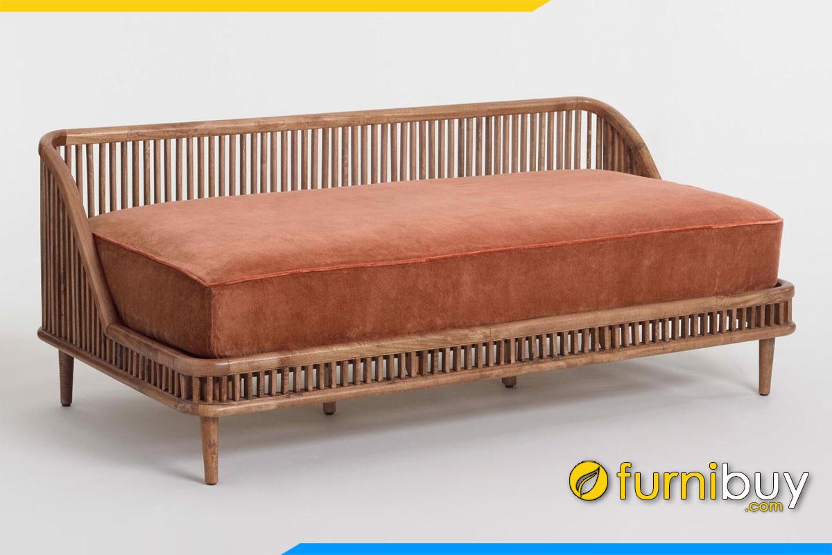 bo sofa phong cach rustic nem mut day