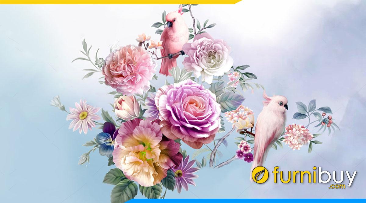 Nhung buc tranh canvas hoa mau don dep nhat