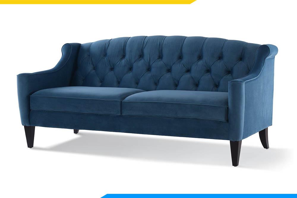 ghe sofa phong khach mau xanh duong dang vang tan co dien