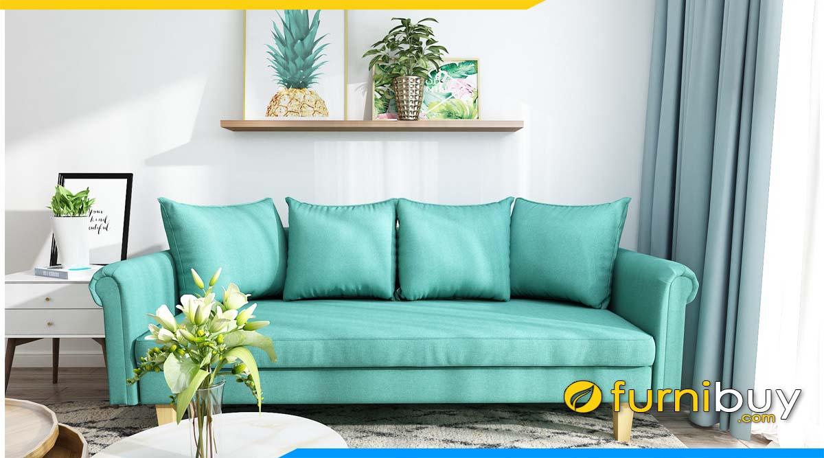 ghe sofa vang mau xanh ngoc ke phong khach cao cap